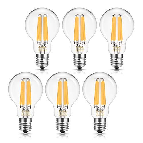 ドリスショップ フィラメント電球 E17口金 60W形相当 LED電球 クリプトン電球 エジソン電球 クリア電球 電球色 全方向 シャンデリア用 調光器対応 密閉形器具対応 6個入