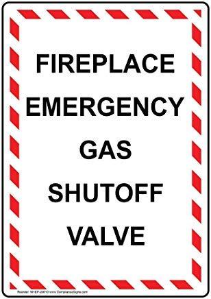 Open haard noodgas afsluiter metalen waarschuwingsborden, prive-teken, tuin hek werf teken 8