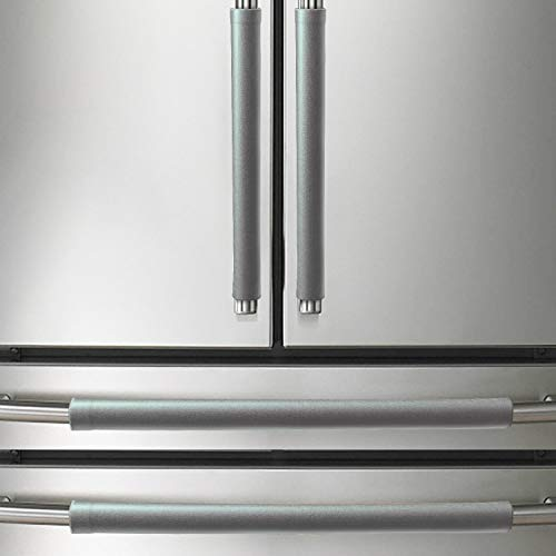 MingXJD Refrigerator Door Handle Cover,Keep Kitchen Appliances Clean ,Drips,Smudges, Fingerprints and Dust Covers,Suitable for Fridge,Microwave,Dishwasher,Oven (4PCS, Gray)