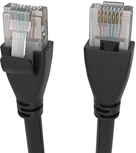 Elfcam - Cable de red Ethernet RJ45 Cat 6, compatible con router módem Switch TV Box PC Nintendo Switch Xbox PS3 PS4 consolas de juegos redondos (15M)