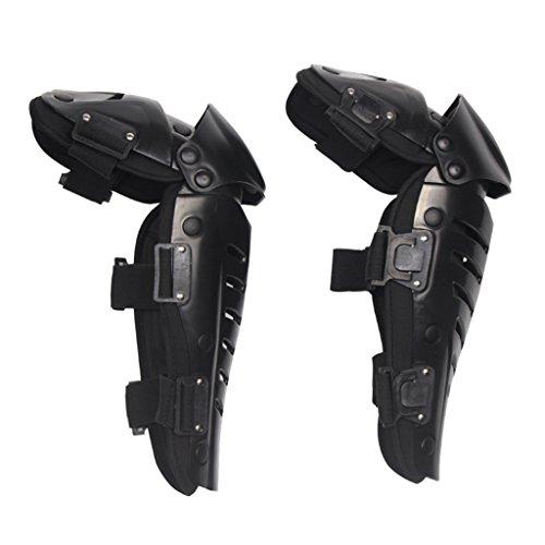 1 Paar Motorrad-Knieschützer Motorrad Renn Knieschützer Knieschoner Kniepolster Kneepad Schutz - Schwarz