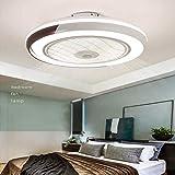Ventilador De Techo 60W LED Lámpara Creative Regulable Ventilador De Techo Invisible Lámpara Luz De Techo Del Ventilador De Bajo Ruido Adecuado Para Sala De Estar Dormitorio Habitación Infantil,Negro