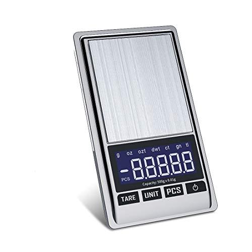Bilancia di Precisione 0.01g - Mini Bilancia Milligrammo Precisione Digitale Scale 500g x 0.01g, Bilancia Ultraleggero con Display LCD per Pesa Cucina Gioielli Bilance Alimenti