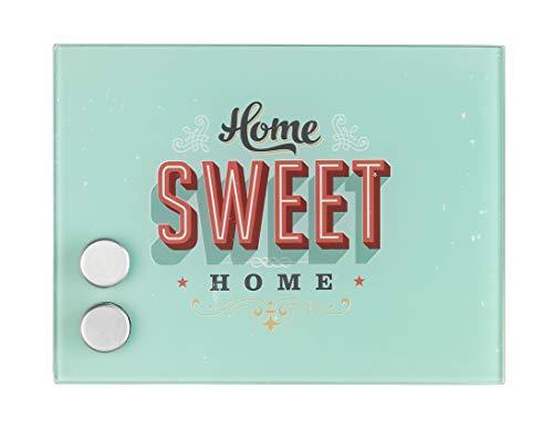 Wenko 50471100 Schlüsselkasten Home, magnetisch, mit 7 Haken, Gehärtetes Glas, 20 x 15 x 5 cm