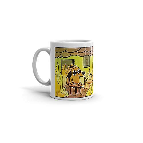 This is fine Mug White Ceramic. Size 11 oz - The Funny Dog Dogo Coffee Mugs