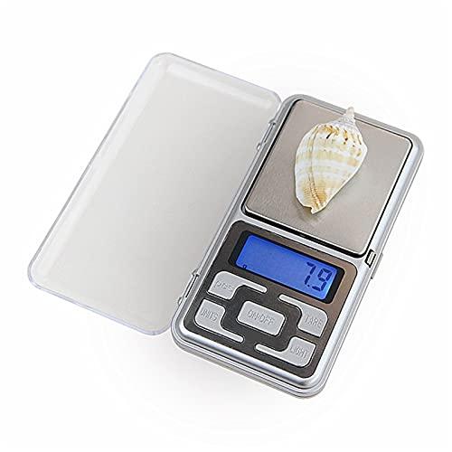 Panalización de oro al aire libre Pollado electrónico de bolsillo de 5 Unidades Escala de medición de la escala de la joyería de bolsillo Herramientas de pesaje Mini Precisión Mini 500 g x 0.1