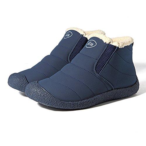 Mujer Botas Zapatos, gracosy Nieve Invierno Cortas Fur Aire Libre Boots Botines Mujer Alineado escarpa de Piel de Invierno Zapatos Caliente Tobillo de los Placas Botas