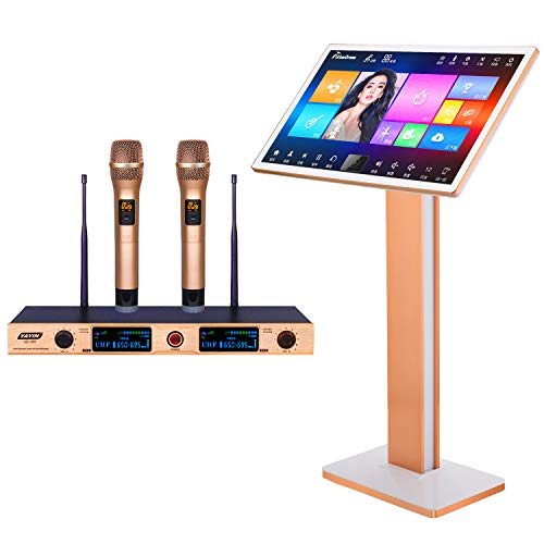 Buy UrbanDrama Karaoke Machine,With Reverb Mic 22'' Touch Screen Intelligent Voice Keying Machine ...