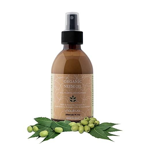 250ml Aceite de Neem Orgánico para Plantas y Flores - 100% Natural y Sin Tóxicos - Protección y Defensa de Todo Tipo de Insectos, Plagas y Enfermedades - Interior y Exterior - Spray Listo Para Usar