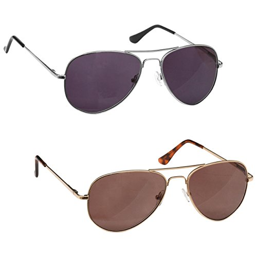 The Reading Glasses Company Gafas De Lectura Plata Y Oro Lectores De Sol Valor Pack 2 Uv400 Hombres Mujeres Ss8-89 +2,50 2 Unidades 70 g