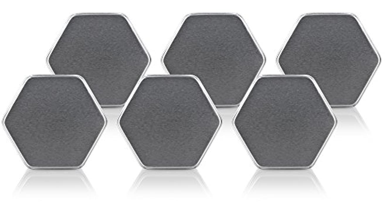 Hexagon Steel Metal Tin Container with Slip Cover Lid (6 PACK) - holds approx. 2 fl oz