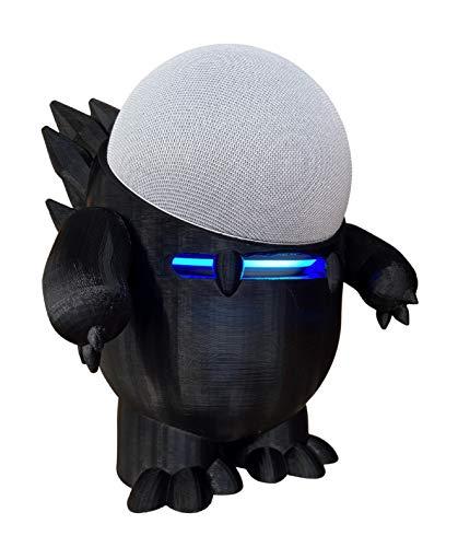 Suporte Base De Mesa Alexa Smart Echo Dot 4 Dino Echosaurus (preto)