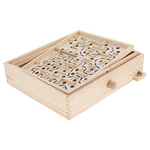 YASE-king Laberinto de madera Rompecabezas Balance Board de bolas laberinto de juguete Juego de la Educación - Wood, Grande