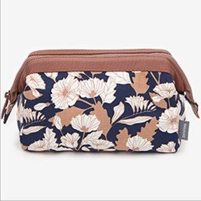 Sac cosmétique de voyage de grande capacité portable petit sac de rangement cosmétique portable multifonctionnel flamingo pour cosmétiques brun chrysanthème