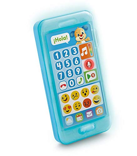 Fisher-Price Teléfono aprende con perrito, juguete bebé +1 año (Mattel FPR17) , color/modelo surtido