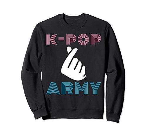 Retro k-pop army doigt coeur musique pop...