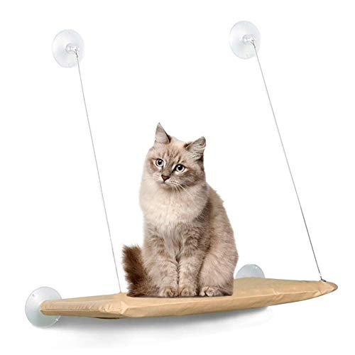 AZLZM Cat Window Perch Hammock Bed Window Seat with Durable Heavy Duty Suction Cups Cat Bed Pet Resting Seat Mount onto Window for Space Saving