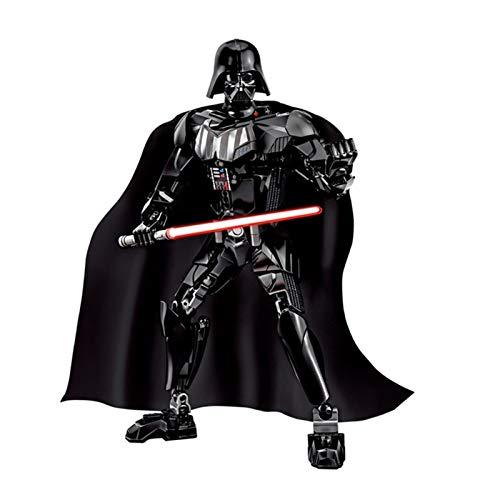 Action Figure Assemblare la Figura Boba Fett Sandtrooper Stormtrooper Darth Vader Chewbacca Azione Figura Regalo di Natale Giocattolo per Bambini (Color : Darth Vader)