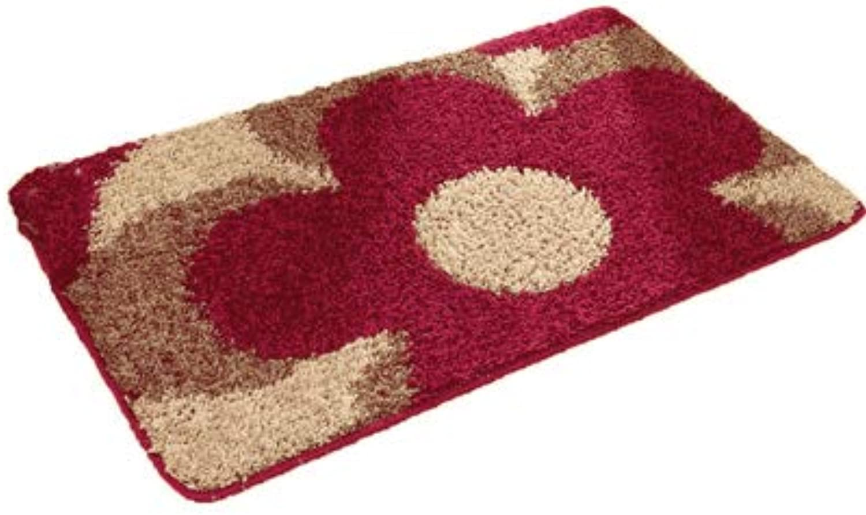 Door mat,Carpet Indoor mats Carpet Door mat Restroom Bedroom Living Room Bathroom Non-Slip mat-red 80x120cm(31x47inch)