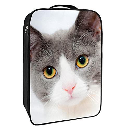 nakw88 Bolsa de zapatos de animales blancos para gatos 1-2 pares de zapatos para viajes y uso diario, sistema de embalaje conveniente para tus zapatos