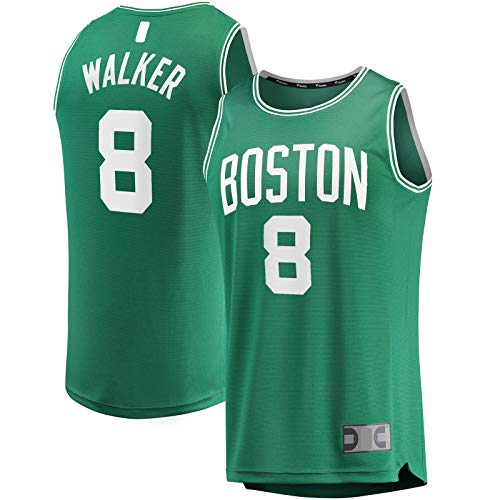 OYFFL Kemba Top Sin Mangas Caminante Jersey De Baloncesto Boston Traning Jersey Celtics Camiseta #8 Fast Break Jersey Kelly Verde - Icon Edition-M