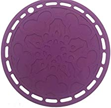 SOVINA Premium Silicone Hot Pads Trivet Purple, Insulation, Non stick heat resistant, Splatter Guard,Durable, Pot holder f...