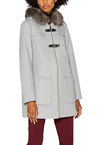 ESPRIT Collection Damen 099EO1G033 Mantel, Grau (Light Grey 5 044), Medium (Herstellergröße: M)
