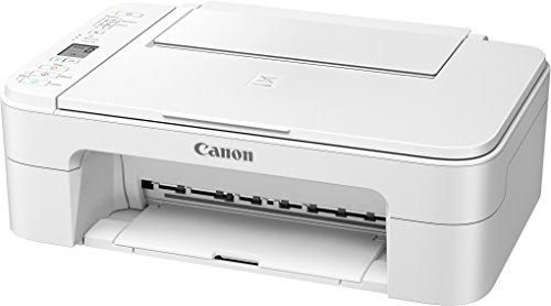 Canon PIXMA TS3151 Farbtintenstrahl-Multifunktionsgerät (Drucken, Scannen, Kopieren, 3,8 cm LCD Anzeige, WLAN, Print App, 4.800 x 1.200 dpi), weiß