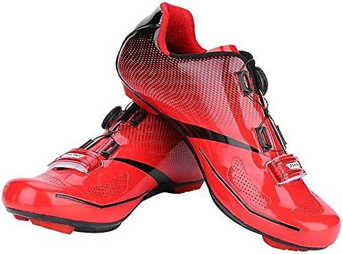Alomejor Herren Lock System Radfahren Schuhe Atmungsaktiv Rennrad Anti-Skid Schuhe für MTB