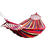 <span class='highlight'>YWCXMY</span>-<span class='highlight'>LDL</span> Double Hammock 450 Lbs Portable Travel Hanging Hammock Swing Lazy Chair Canvas Hammocks (Color : Red)