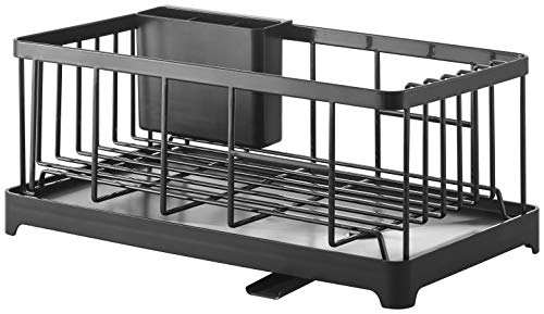 YAMAZAKI home Wire Dish Drainer Rack, One Size, Black