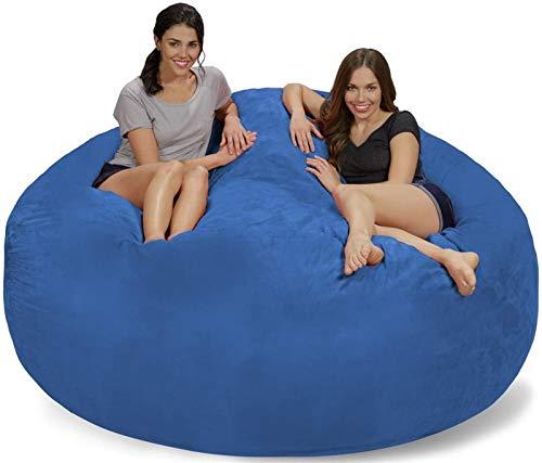 DEALBUHK Neueste Riesige 7 'Memory Foam Möbel Bohnenbeutel Großes Sofa mit weicher Mikrofaserabdeckung (Color : Blue)