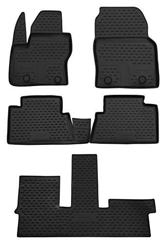 Element EXP.NLC.16.27.210k Passgenaue Premium Antirutsch Gummi Fußmatten - Ford Grand C-max - Jahr: 10-20, schwarz