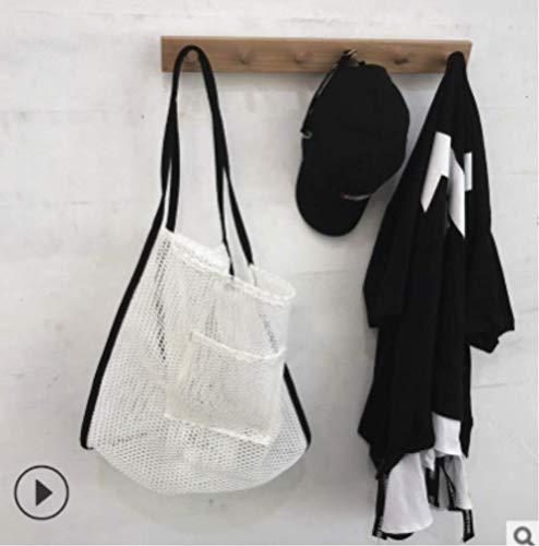 FHFF Mesh Bag Nieuwe Draagbare Ontwerp Grote Winkelen Schoudertassen Vrouwen Fishnet Handtas Strand Mesh Bag Us Wit
