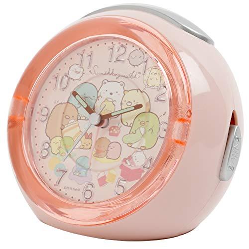 すみっコぐらし 目覚まし時計 LEDクロック 4曲メロディアラーム てづくりぬいぐるみ ピンク