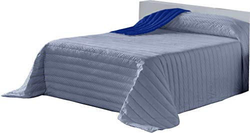 Lucena Cantos - Colcha Todo Uso Linea, Fibra 120 gr, (Azul, Cama 150, 250x270)
