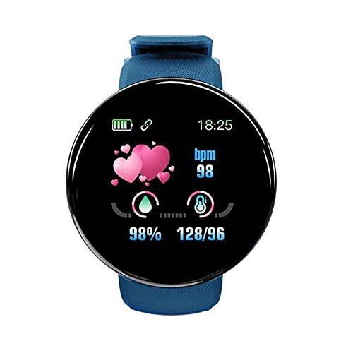 Reloj inteligente con pulsera inteligente D18S, reloj inteligente de toque completo para mujeres y hombres, elegante pulsera de fitness para seguimiento de la salud, monitor de frecuencia cardíaca