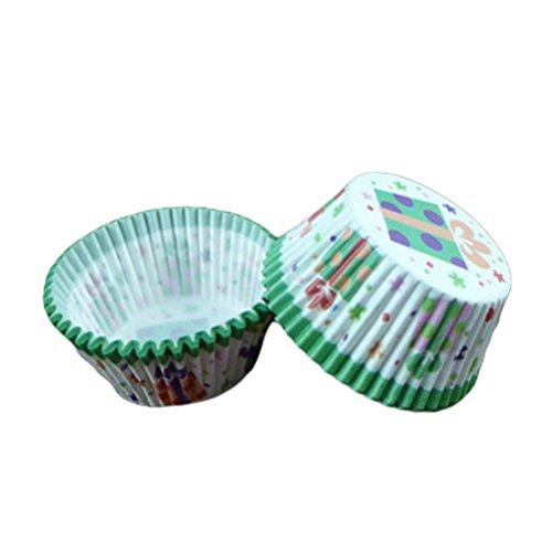 ROSENICE 100pcs Caissettes Cupcake Caissettes Muffin Papier Cas Party Favors Gâteau Tasse