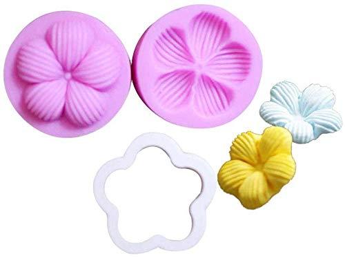 Moules multi-cavités Bacs à glaçons Sets de moules à pâtisserie Fleur de prunier Fleur Silicone Fondant Moule Cuisine Sucre Pâte Moule De Cuisson