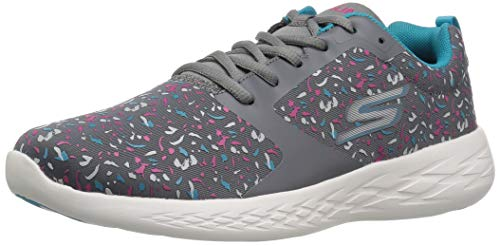 Skechers Performance Women's GO Run 600-15084 Sneaker,charcoal/multi,6 M US