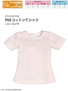 Pure neemo for clothes PNs cotton t-shirt pink (for doll)