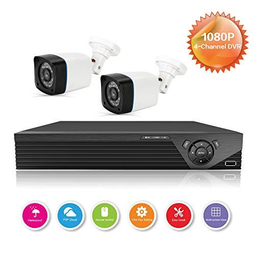 Anni CCTV cámaras Sistema 4CH 1080p DVR Kit Recorder,720p al Aire Libre cámara de Bala,de visión Nocturna,adaptaciones para Todo el Tiempo de la cámara de Seguridad para el hogar Sistemas de cámaras