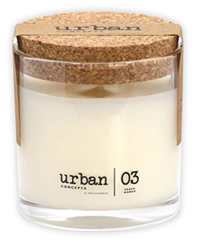 Urban Concepts by DECOCANDLES   Desire - Peach Mango - Highly Scented Candle - Hand Poured in The USA - 6.7 Oz. w/ Cork lid