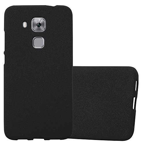Cadorabo Funda para Huawei Nova Plus en Frost Negro - Cubierta Proteccíon de Silicona TPU Delgada e Flexible con Antichoque - Gel Case Cover Carcasa Ligera