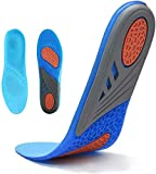 Sports Gel Insoles and Shoe Inserts for Women and Men Breathable Cushion with Small Holes,Sizes 5-10 by HLYOON(S)