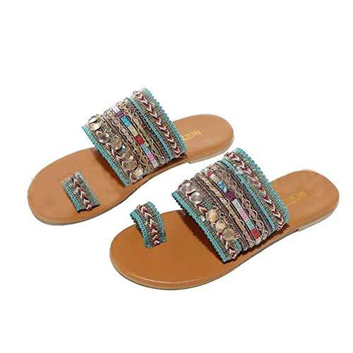YLLN Damen Artisanal Sandalen Flip-Flops Handgemachte Flip Flop Sandalen im griechischen Stil Streetwear Fashion Schuhe