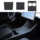 BASENOR Tesla Model 3 Model Y Center Console Wrap Cover Kit ABS Plastic Matte Black...