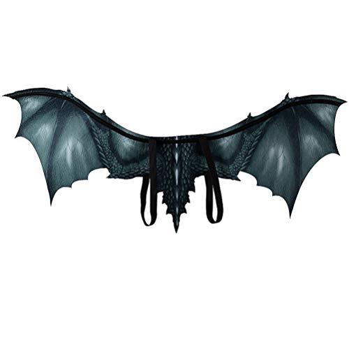 Amosfun Halloween drachenflügel Drachen Cosplay kostüm zubehör vlies drachenflügel Prop für Erwachsene (schwarz)