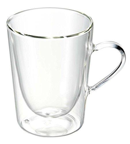 Luigi Bormioli 1440 doppelwandiges Borosilikatglas Kaffee und Tee 295 ml, 2-er Set