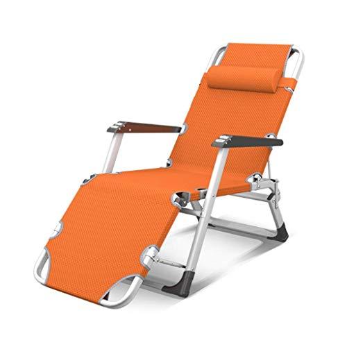 Conjuntos de muebles de jardín de servicio pesado Tumbona, sillas de jardín para acampar plegable cero gravedad cubierta silla reclinable reclinable reclinación impermeable tumbonas metal para oficina
